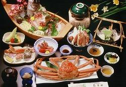 弁天会席(蟹+舟盛り)