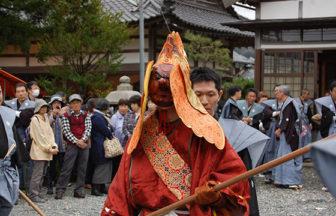 宇波西神社の王の舞